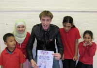 The Brampton Primary School Creators with Clark
